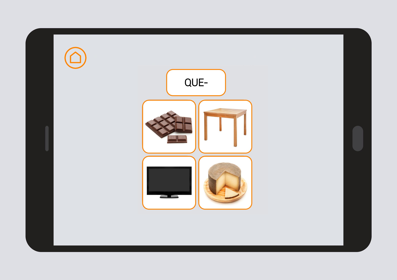 App #Soyvisual - Grafía C-Q