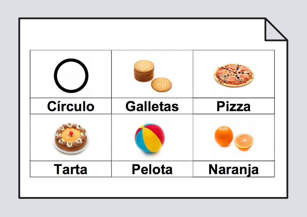Material para el aprendizaje de las formas básicas: círculo