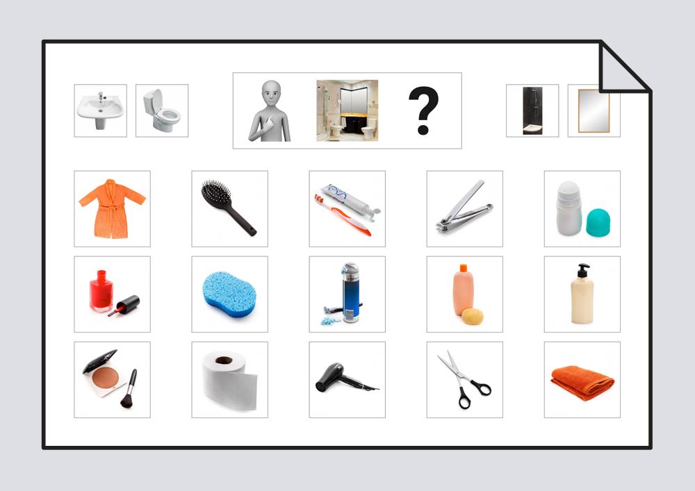 Tablero de comunicaci n aseo personal 1 tablero de for Imagenes de utiles de aseo