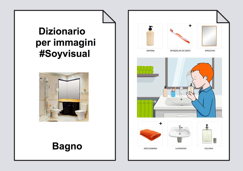 Dizionario per immagini. Bagno