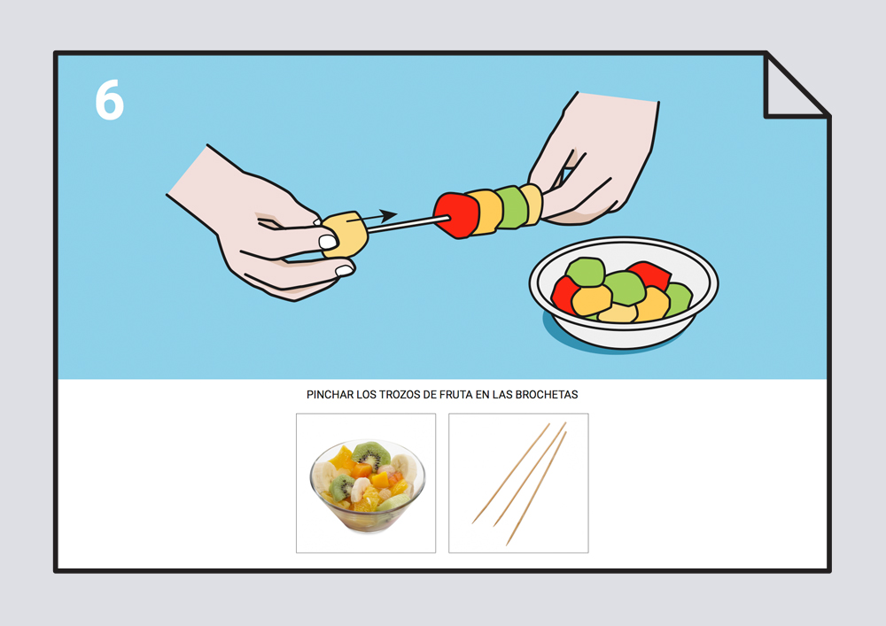 Receta brocheta de fruta