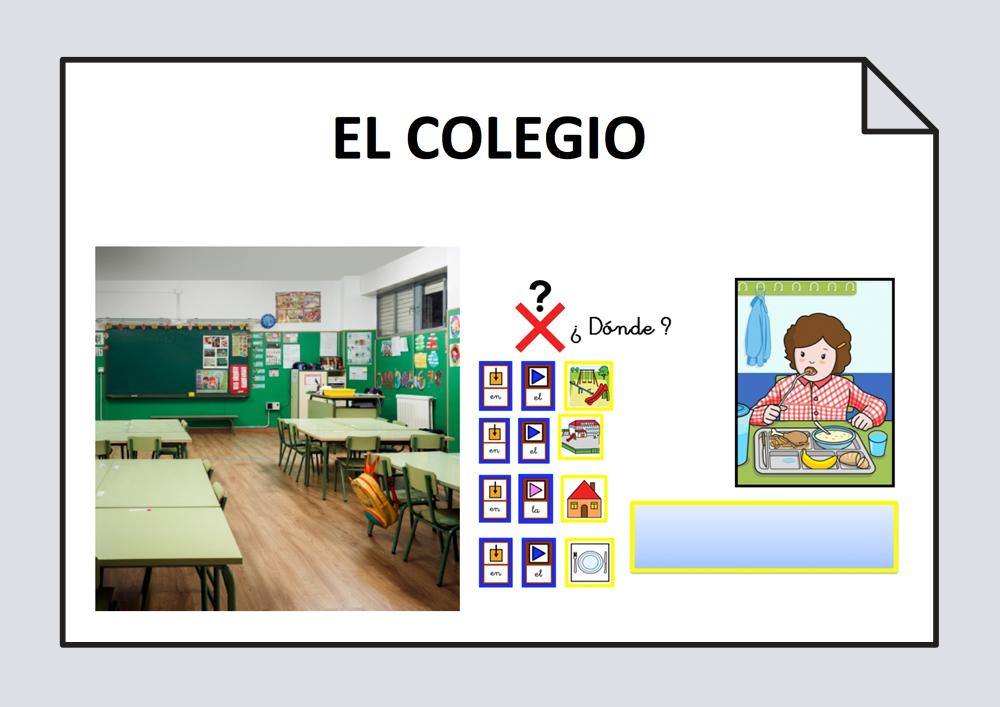 El colegio. Actividades de lenguaje