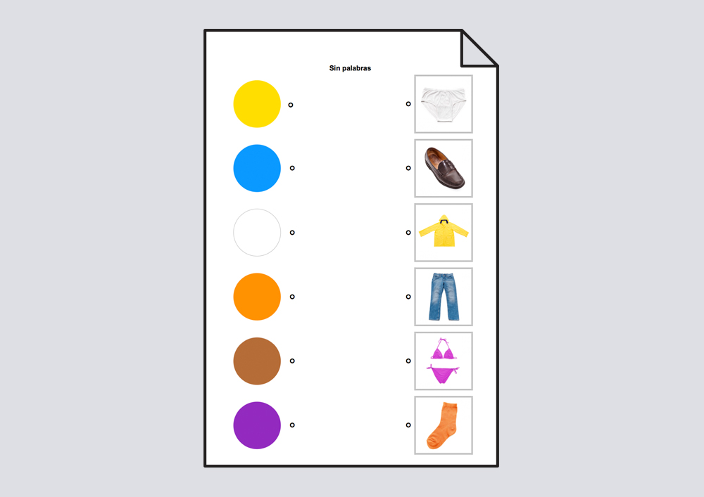 Relacionar colores con objetos