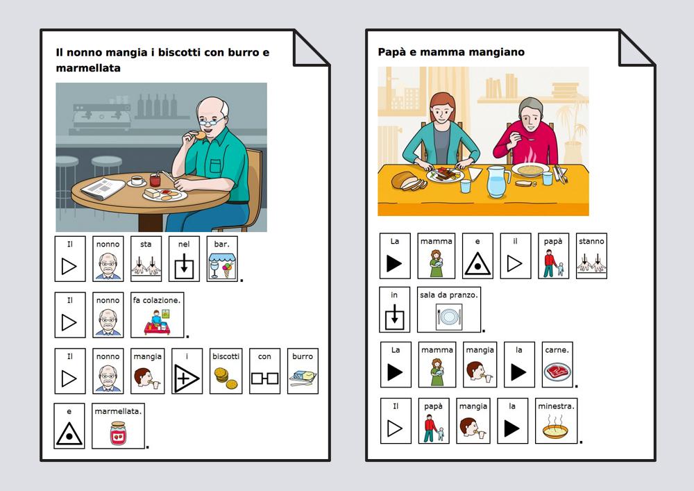 El verbo Comer. Construcción de frases y lectoescritura