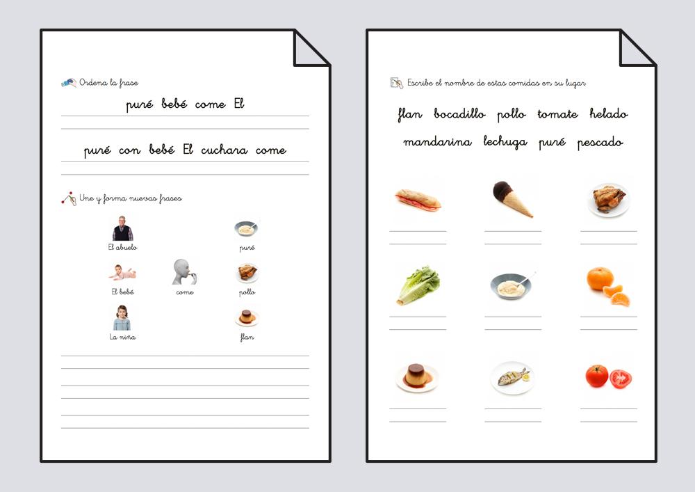 Cuadernillo lectoescritura. Comer 1