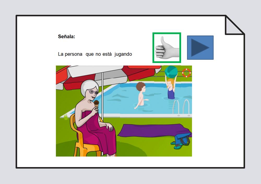Presentaciones para trabajar la comprensión de frases negativas y frases negativos en relativo.