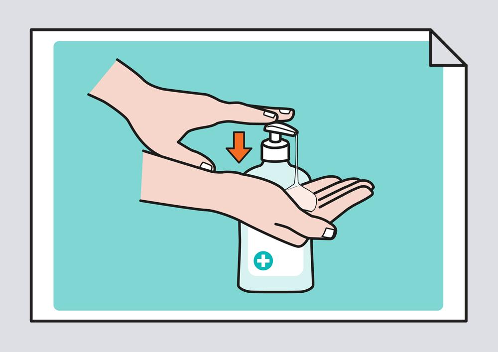 Lavarse las manos con hidroalcohol