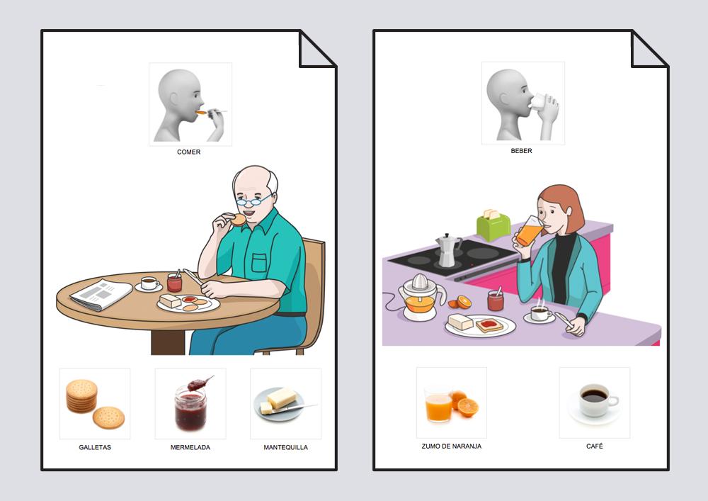 Diccionario en imágenes. El Desayuno