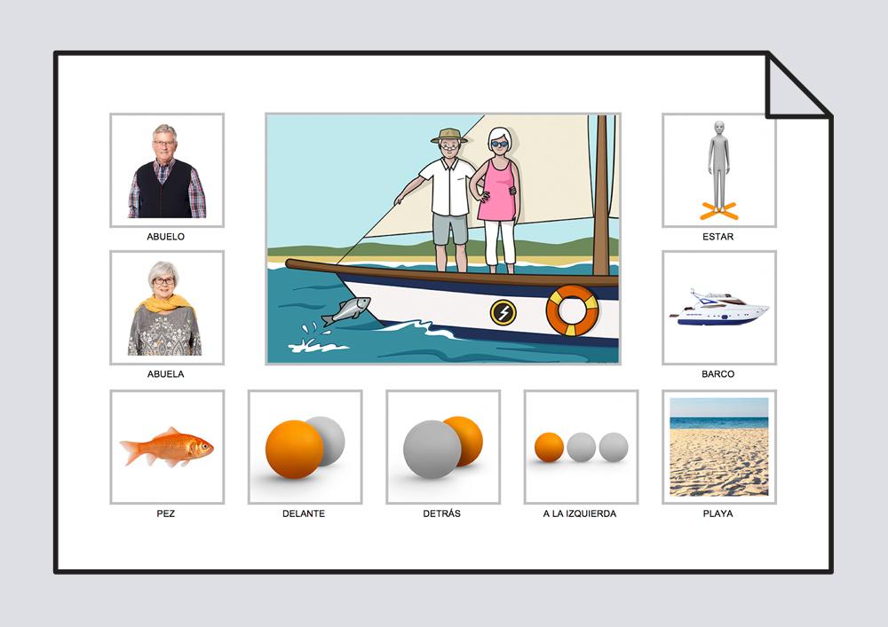 Los abuelos están en el barco