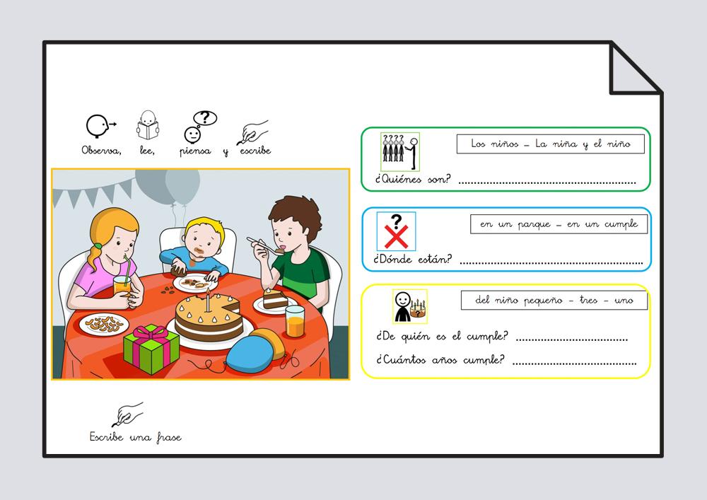 Estructurar frases con el verbo Comer