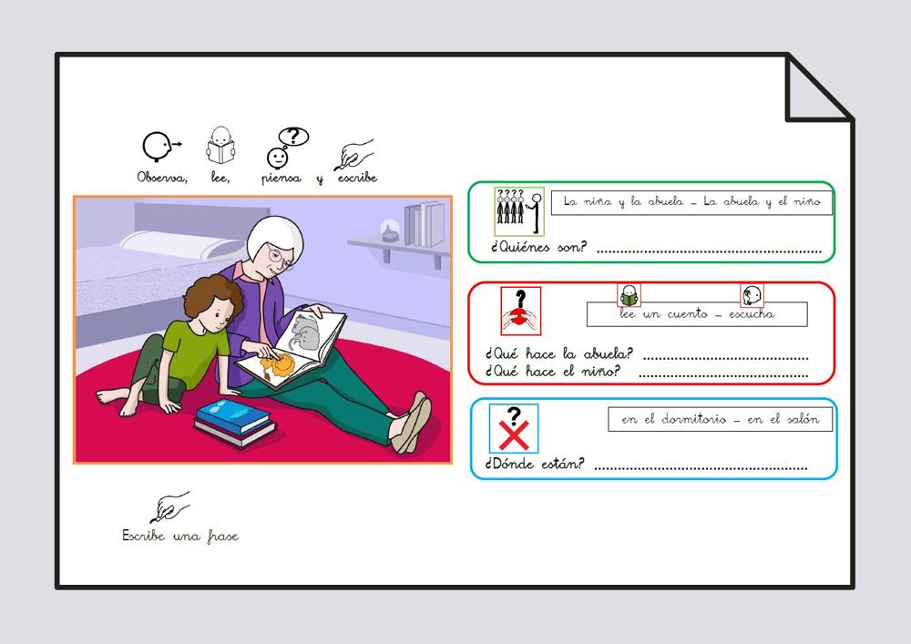 Material para trabajar comprensión / expresión oral y lectoescritura. Verbo Leer