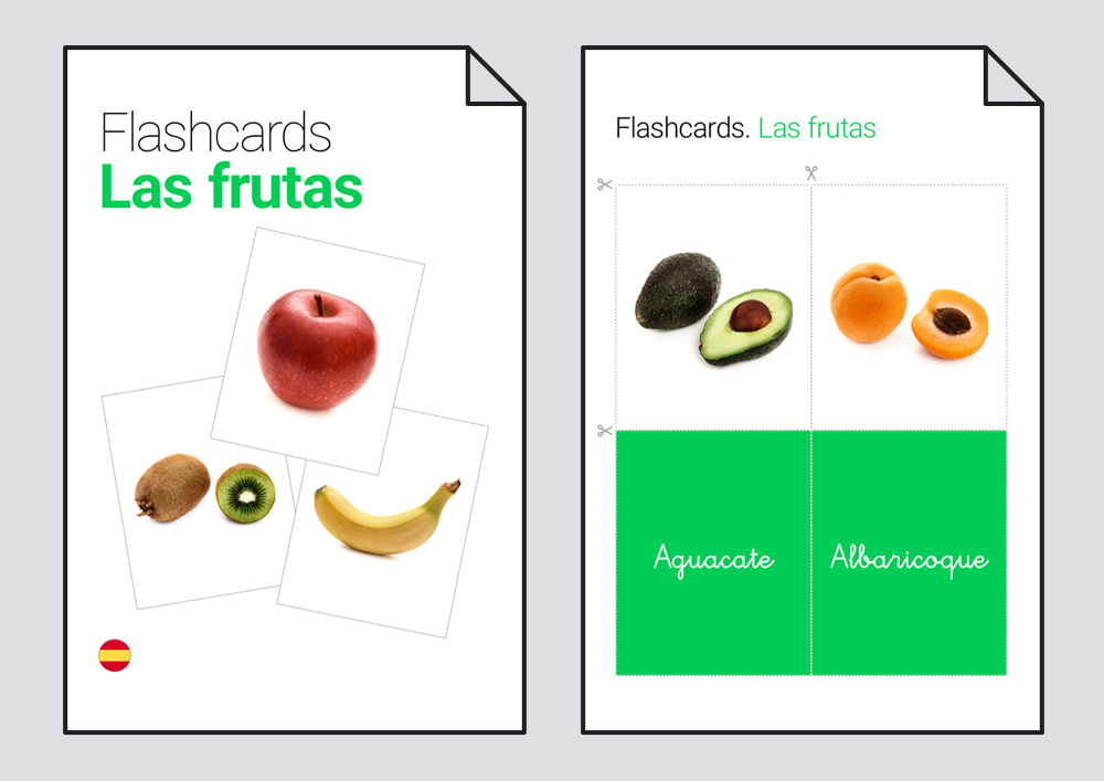 Flashcards. Las futas