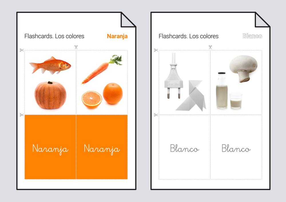 Flashcards. Los colores