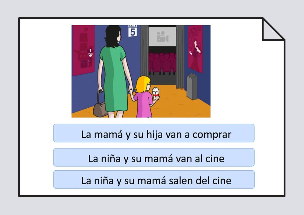 Presentación interactiva para trabajar la comprensión oral y escrita.
