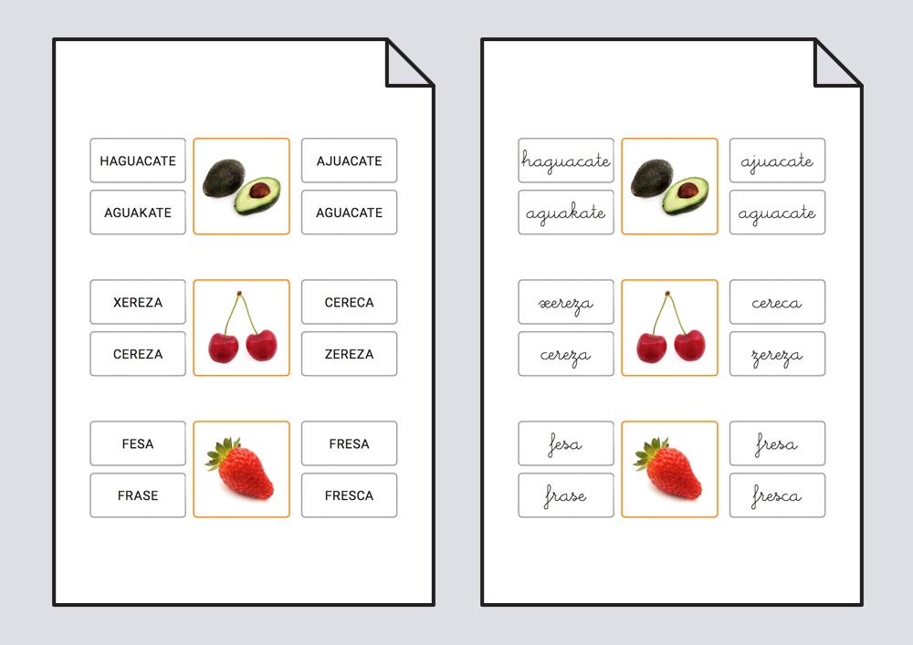 lectoescritura - frutas