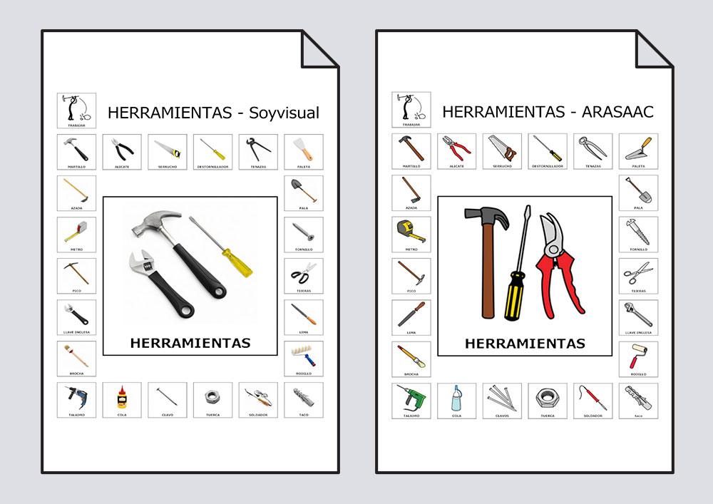 Vocabulario Herramientas - #Soyvisual y Arassac