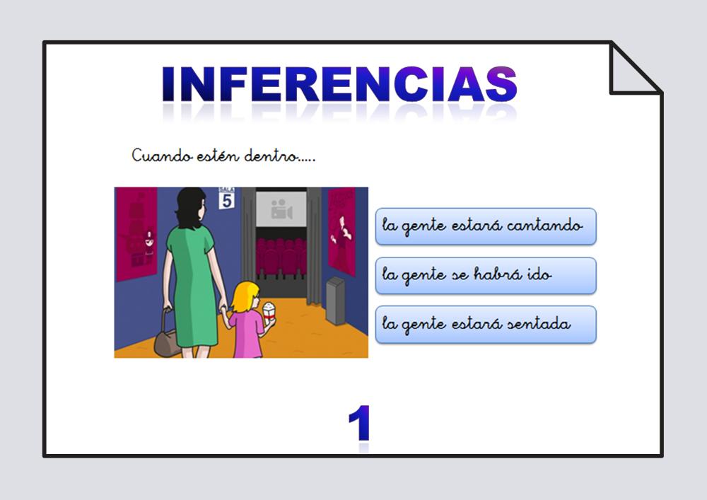 Material para trabajar las inferencias a partir de láminas