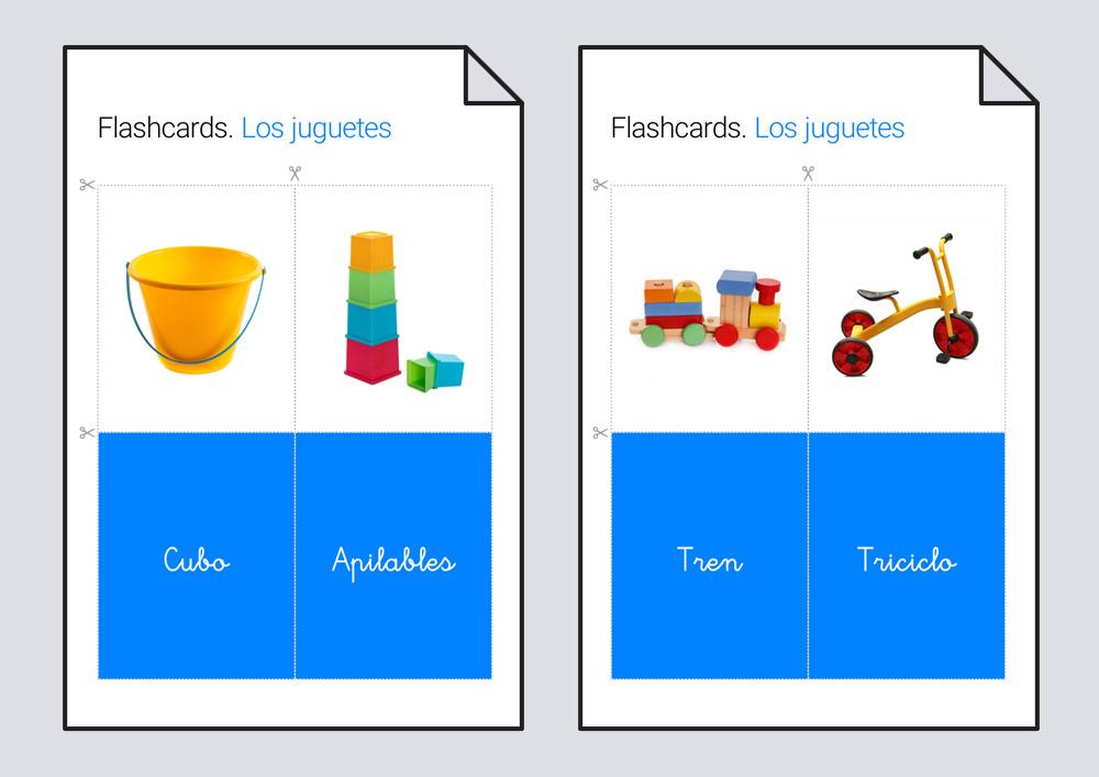 Flashcards. Los juguetes