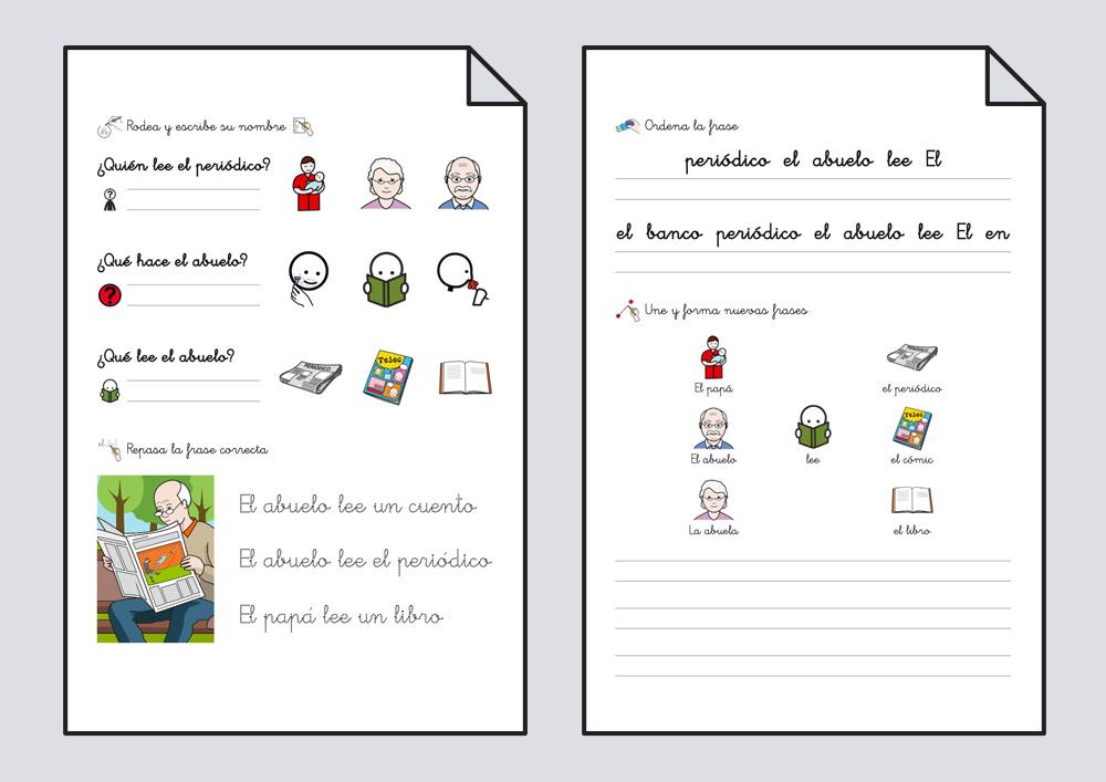 Lectoescritura con pictogramas