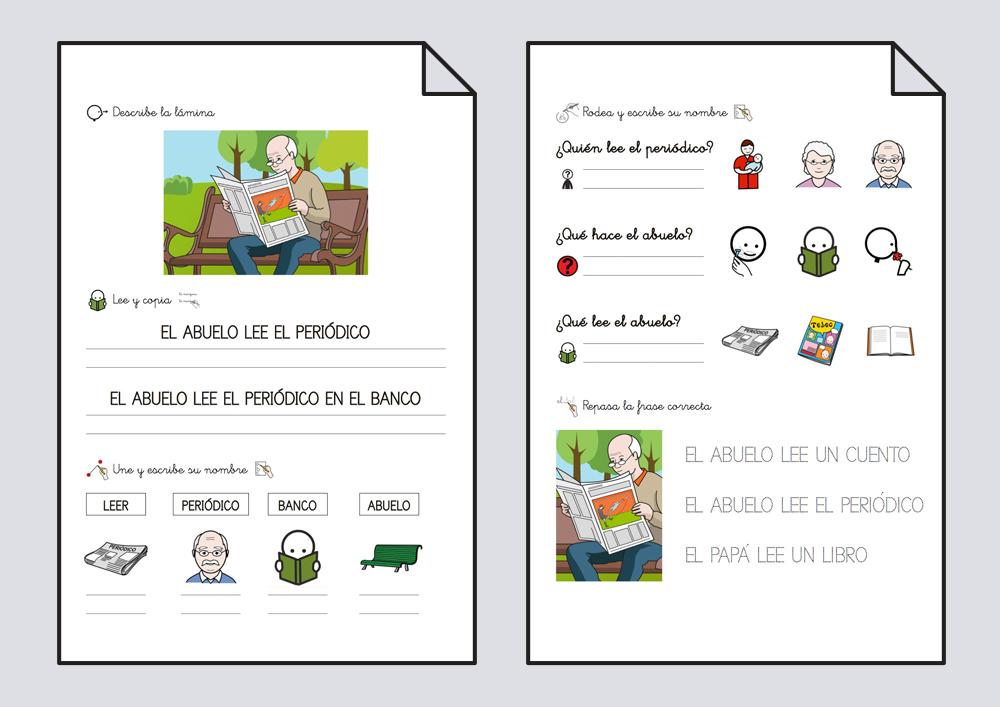Cuadernillo lectoescritura. Leer 1