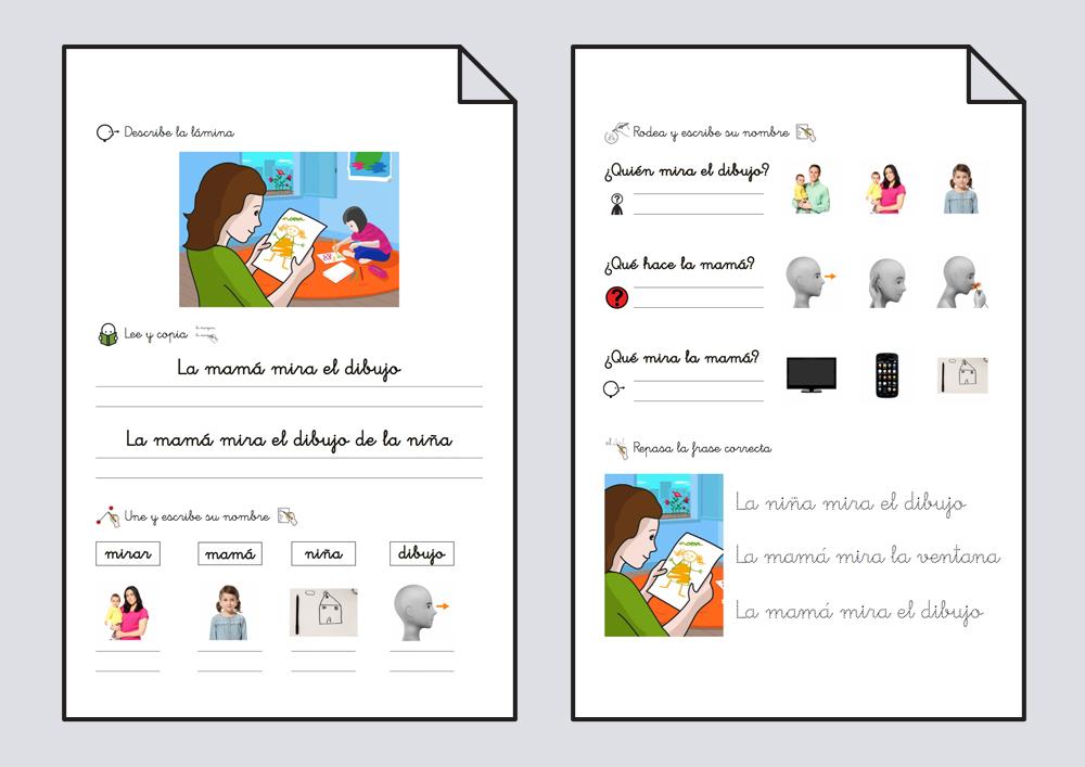 Cuadernillo lectoescritura. Mirar 1