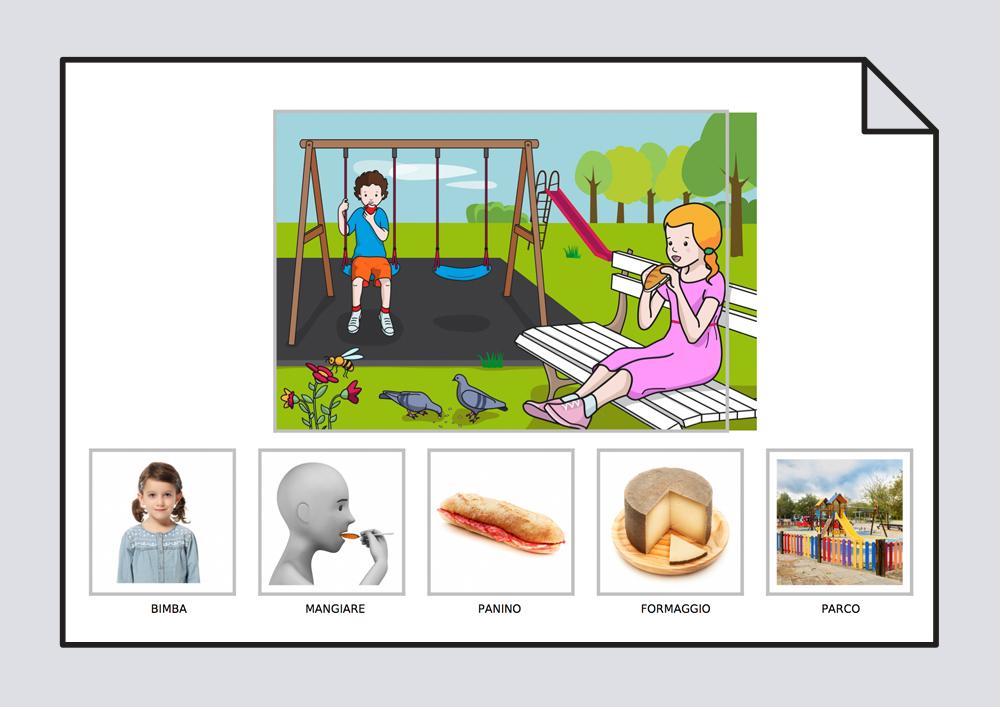 La niña come un bocadillo de queso en el parque