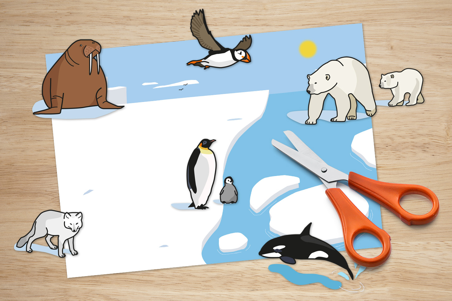Animales del paisaje ártico
