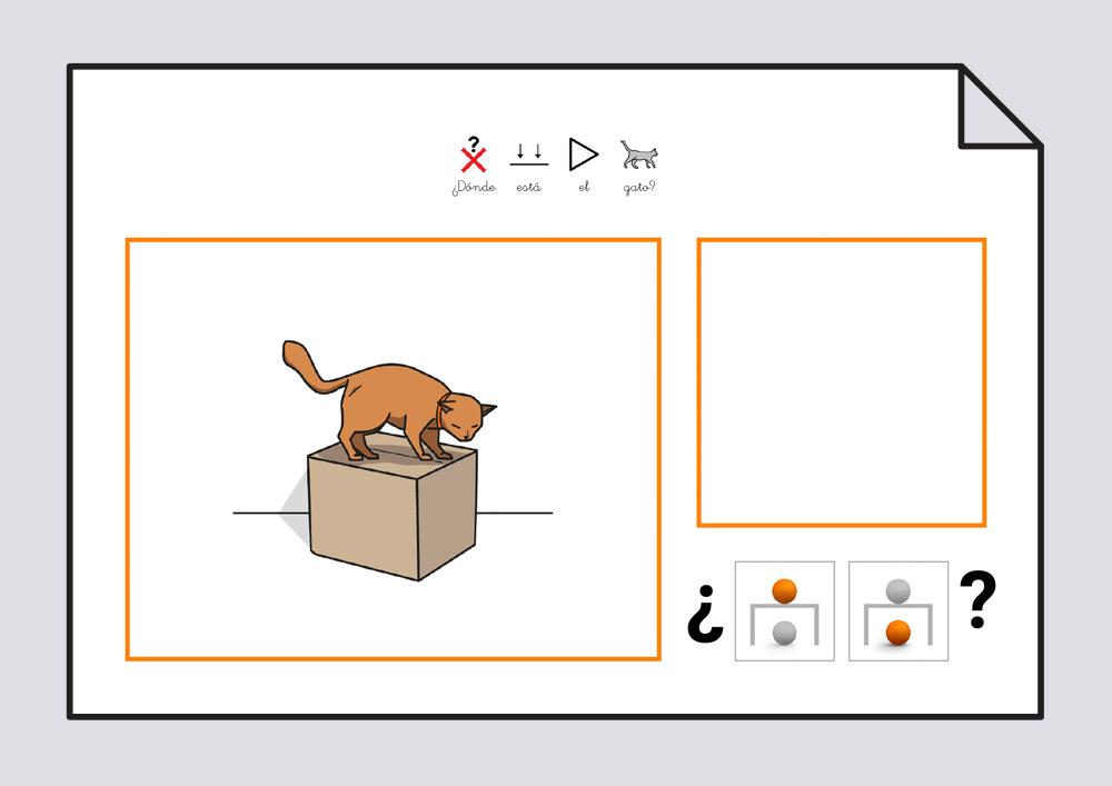 Material #Soyvisual - ¿Dónde está el gato? Nivel 1
