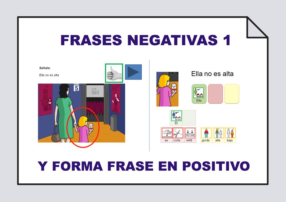 Frases positivas - Frases negativas