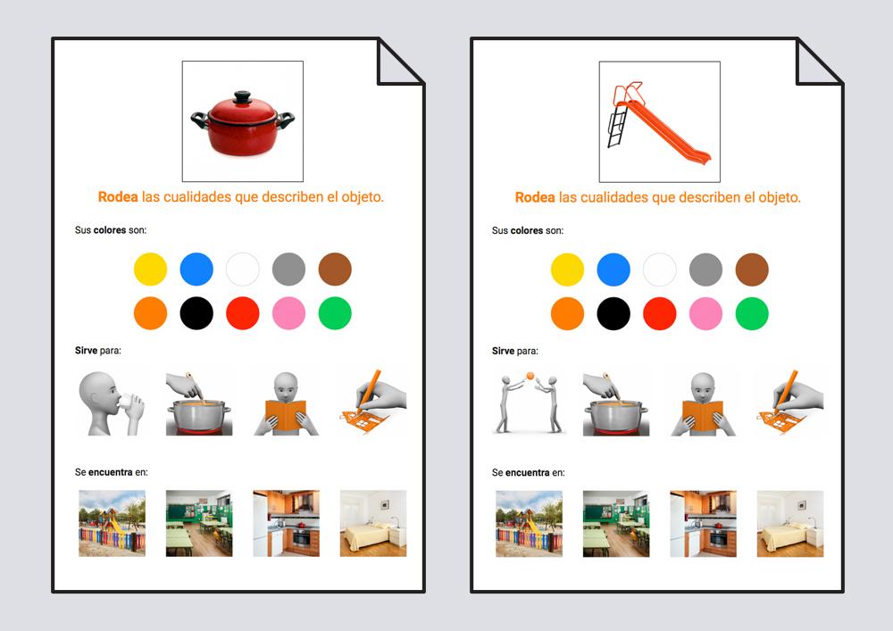 Material para trabajar las características principales que describen a un objeto.