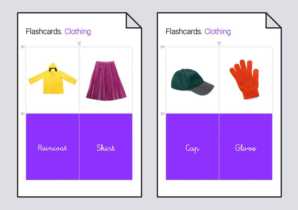 Flashcards. La ropa