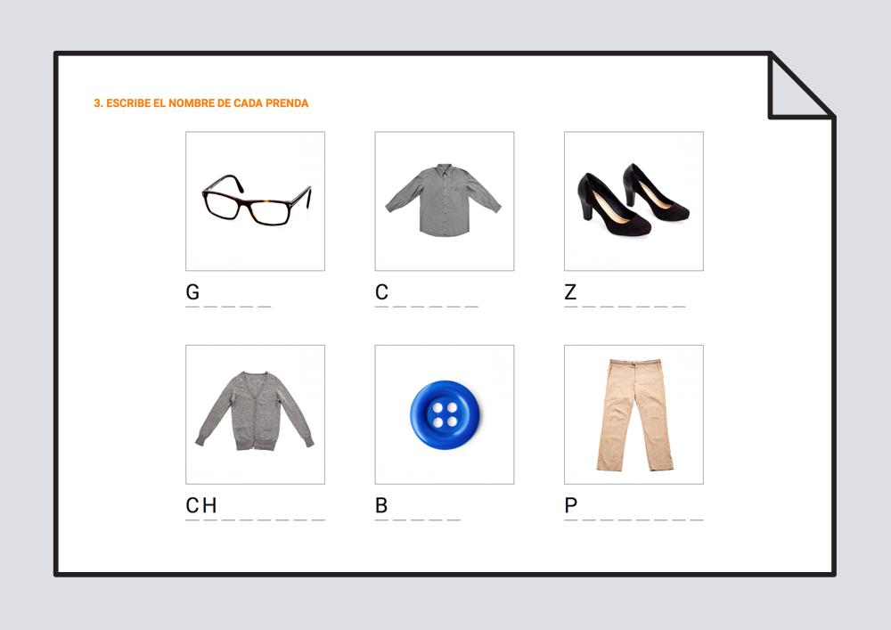 ¿Qué ropa lleva puesta?