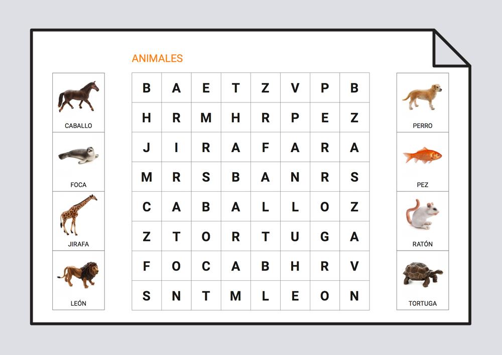 Sopa de letras - Animales