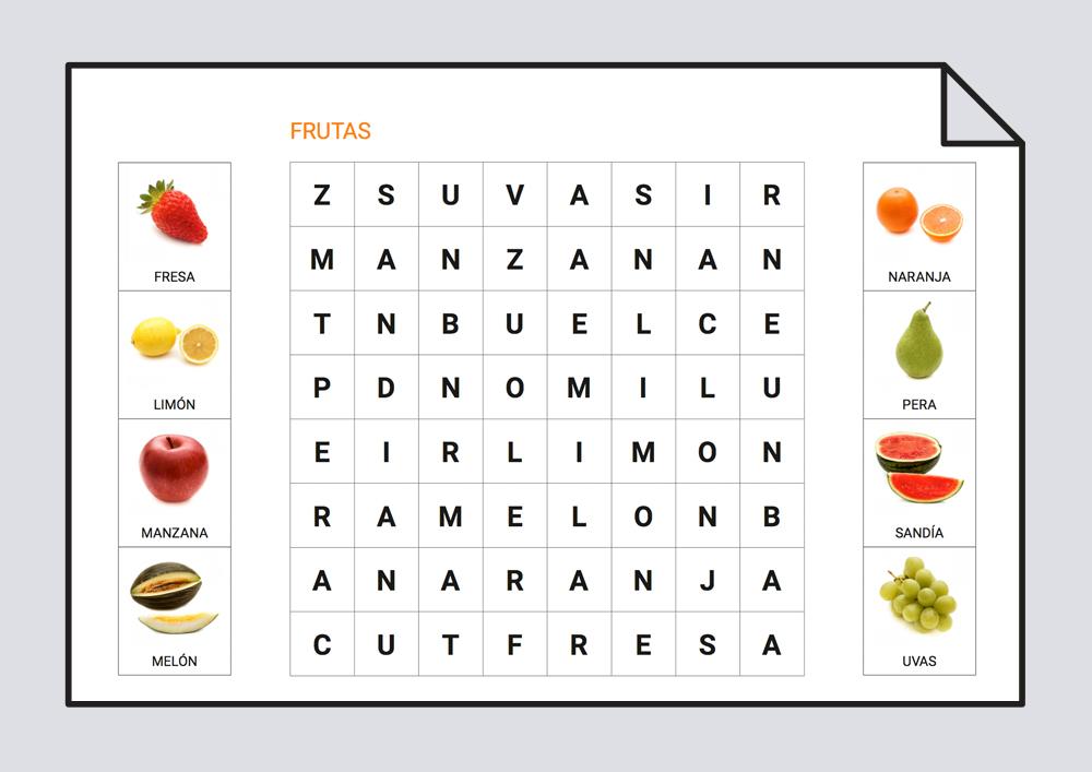 Sopa de letras - Fruta