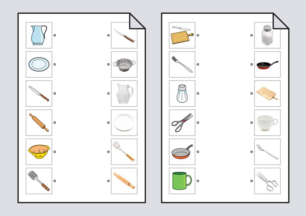 Relacionar utensilios de cocina pictogramas fotograf as for Elementos de cocina