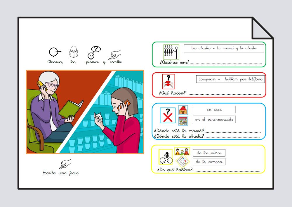 Material para trabajar comprensión / expresión oral y lectoescritura. Verbo Hablar