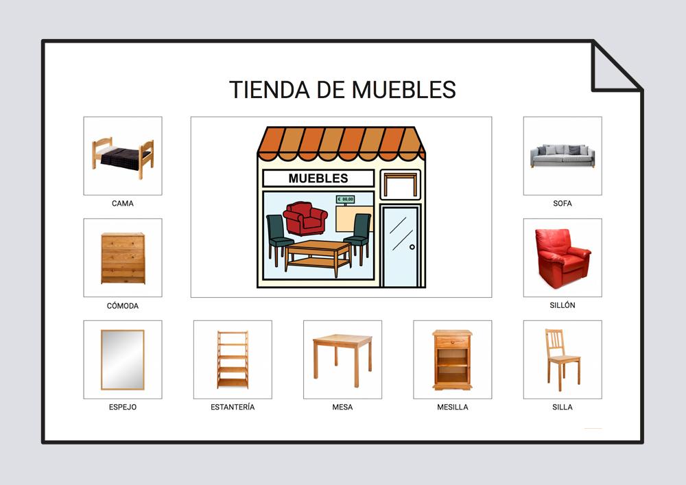 Las tiendas vocabulario l xico soyvisual for Campo semantico de muebles