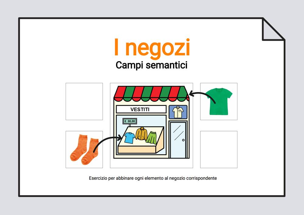 L negozi - Campi semantici