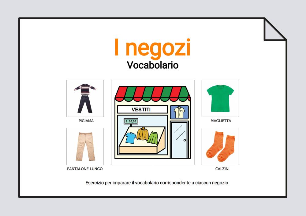 L negozi - Vocabolario