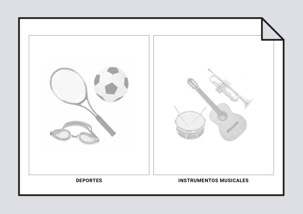 Deportes e instrumentos musicales