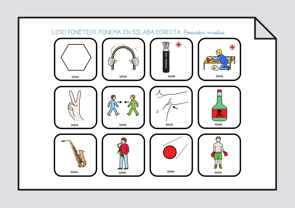 Loto Letra X Conciencia Fonológica Soyvisual