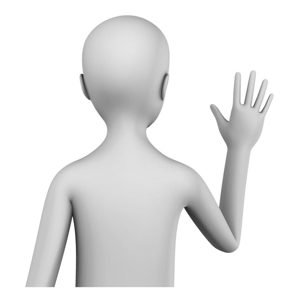 Imagen en la que aparece una persona despidiéndose
