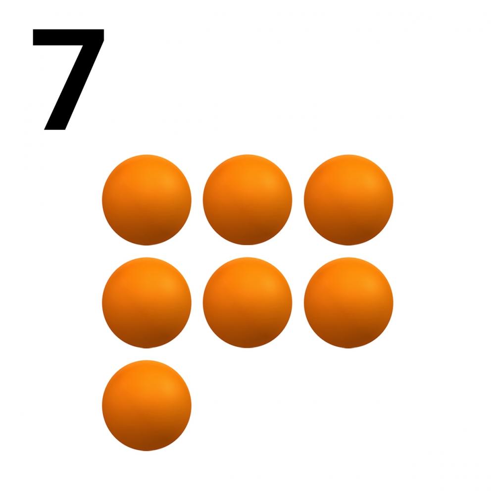 Imagen en la que se representa el número siete