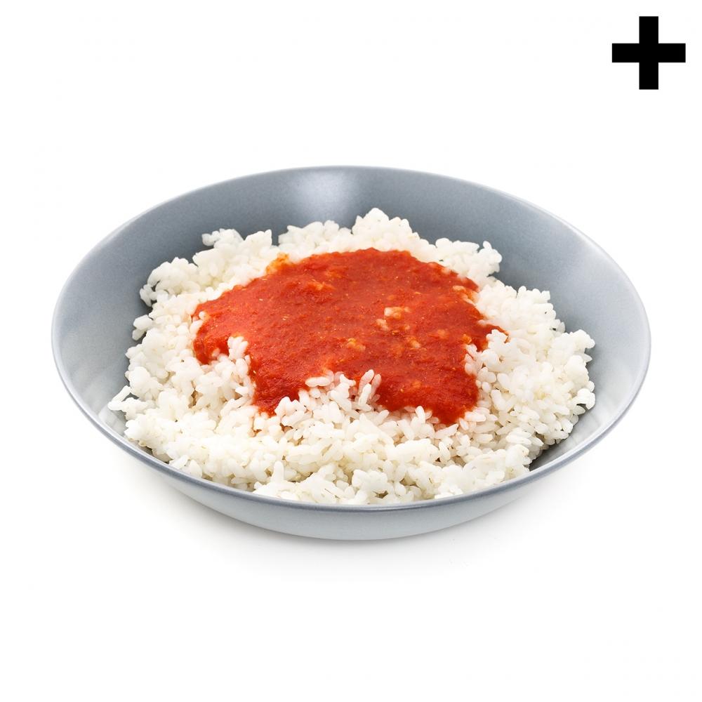 Imagen en la que se ve el plural del concepto arroz con tomate