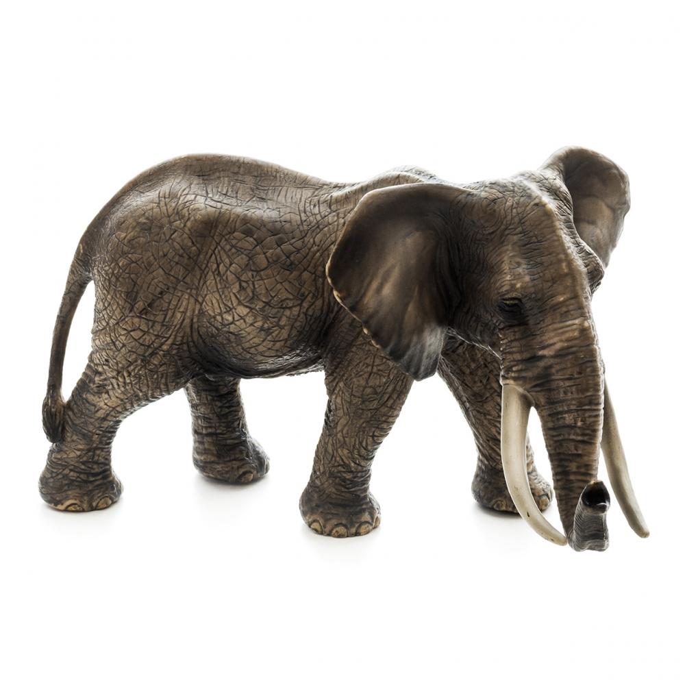 Imagen en la que se ve un elefante de perfil