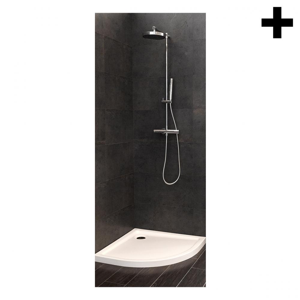 Imagen en la que se ve el plural del concepto ducha
