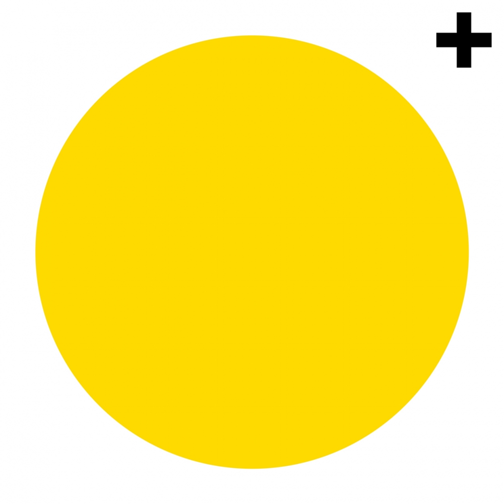 Imagen en la que se ve un círculo de color amarillo
