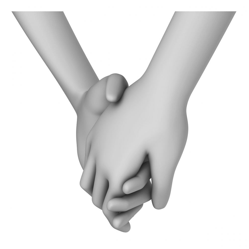 Imagen del verbo dar la mano