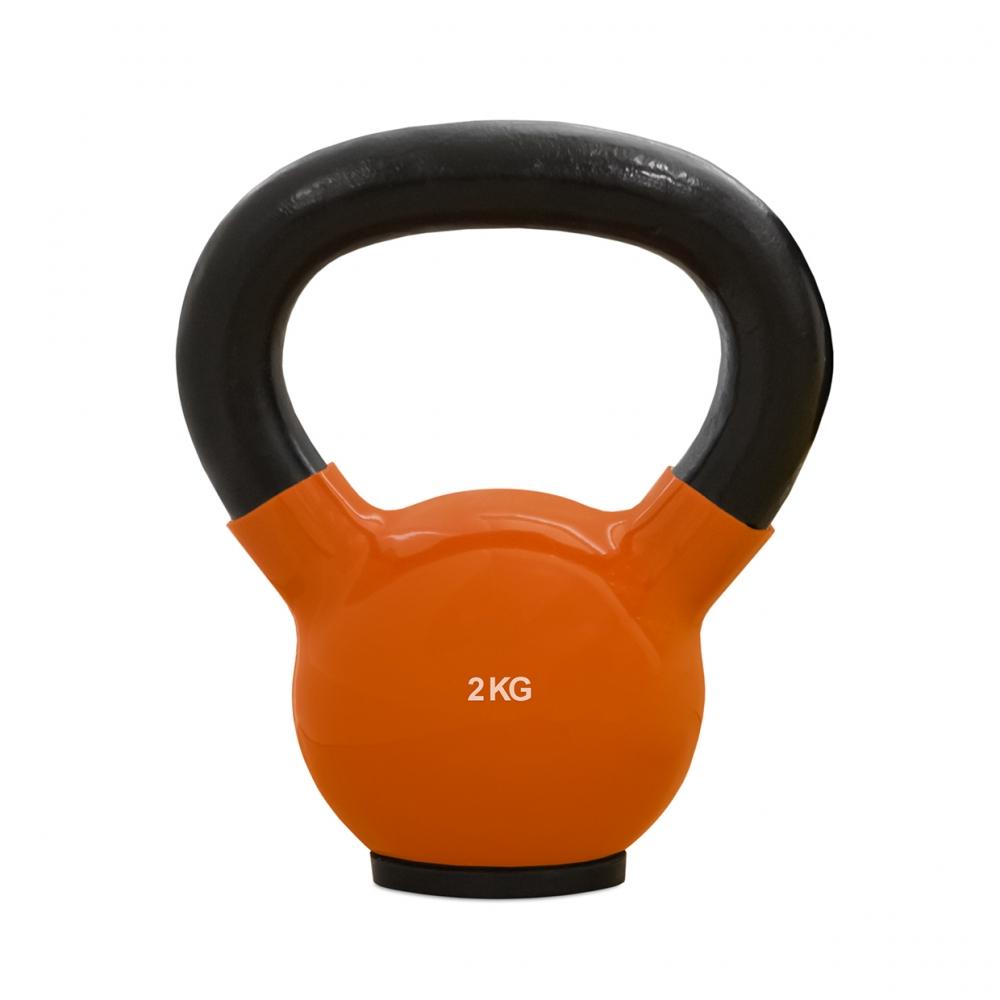 Imagen en la que se ve una pesa rusa para hacer ejercicio