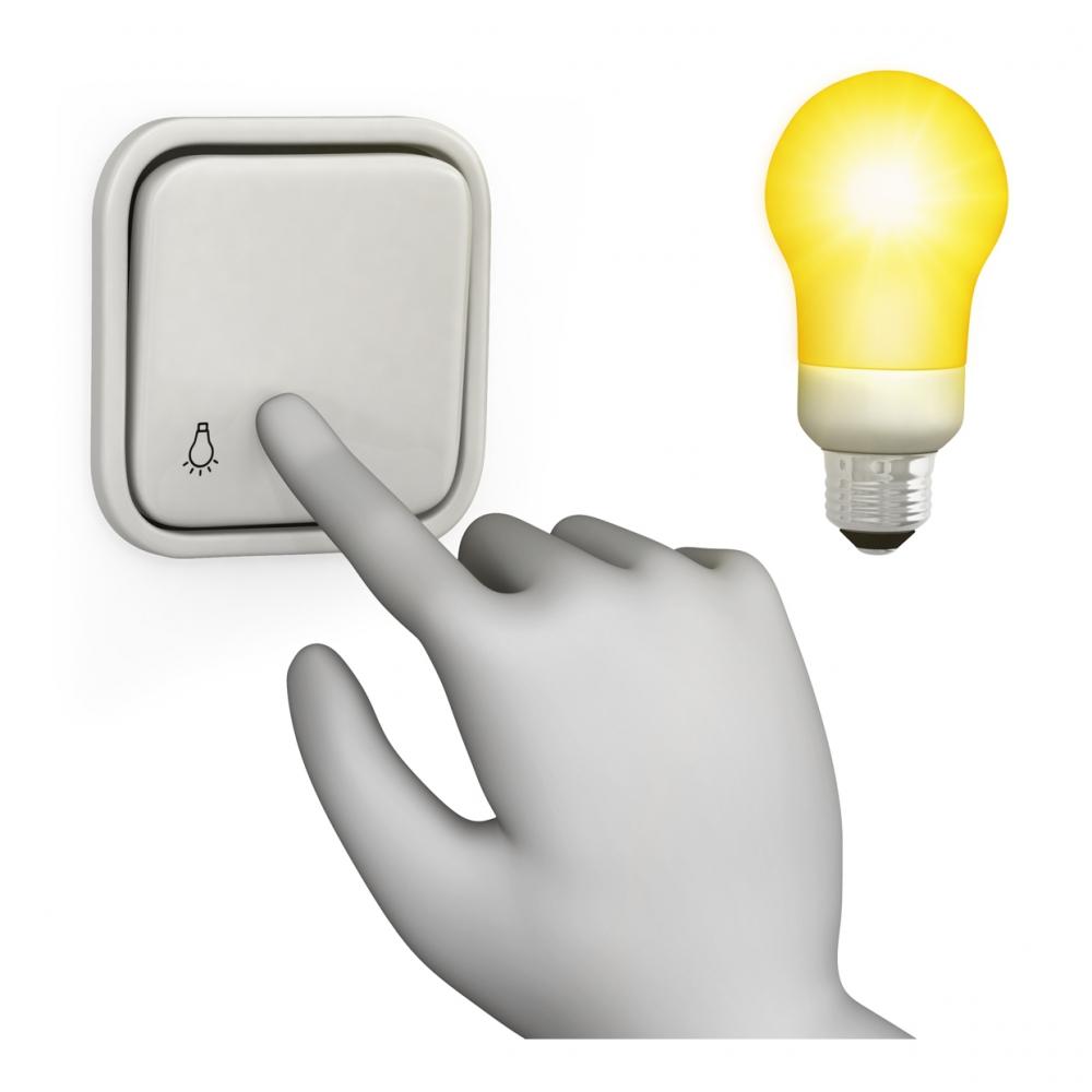 Imagen del verbo encender la luz